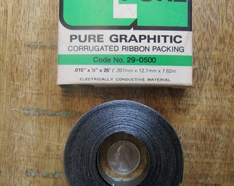 """Steam Punk/Industrial .015"""" x 1/2"""" x 25' Pure Graphitic Corrugated Ribbon Packing"""
