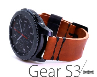Samsung Gear S3 Frontier | Classic | S2  Handmade Leather Strap / Band / Vintage Leather Strap / Italian Leather