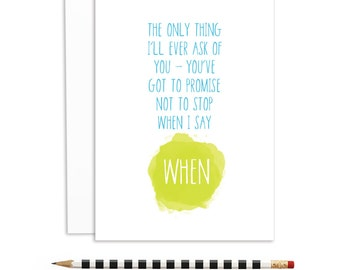 romantic cards, lyrical cards, promise not to stop, foo fighters lyric | A6-838