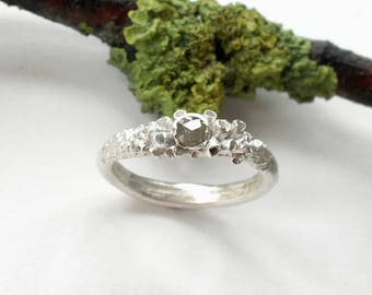 Nyx Grey Diamond Engagement Ring