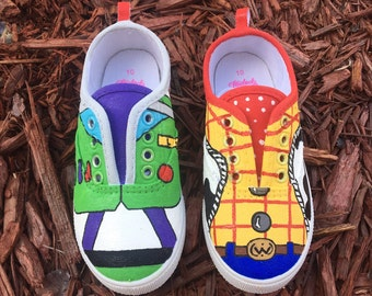 Toy story woody and buzz lightyear shoes