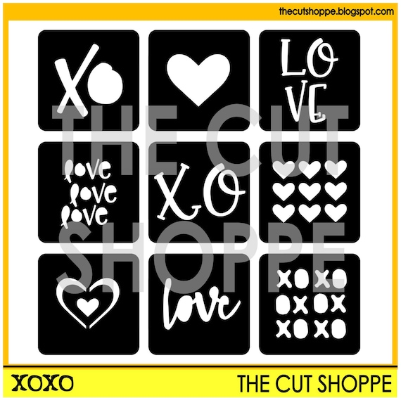 The XOXO cut file can be used as individual desings or a full background for your scrapbooking and papercrafting projects.