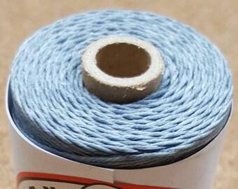 Crawford Waxed Linen Thread 4 Ply (0.8mm), 50 Gram Spool - Denim