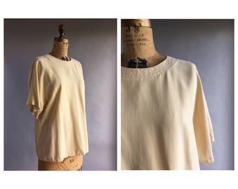 Cream Silk T-Shirt