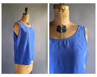Cornflower Blue Silk Tank