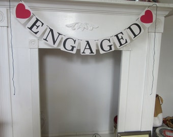 """Engagement Banner """"Engaged"""""""