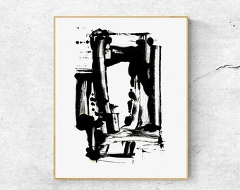 Abstract Wall Art Prints, Black and white print, Large wall art printable, Modern Abstract art Print, Digital download art, Modern wall art