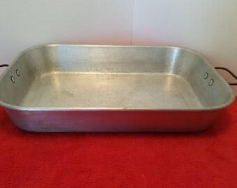 vintage wear ever  aluminum roasting pan / wear-ever #312 tacu co.