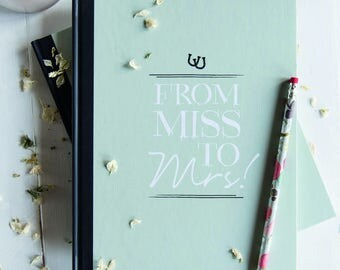 Hen Party/Bachelorette Message And Memory Book In Pistachio