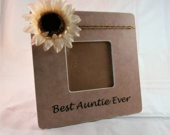 Best Auntie Ever frame, Aunt picture frame Mothers Day gifts for aunt gift from niece nephew