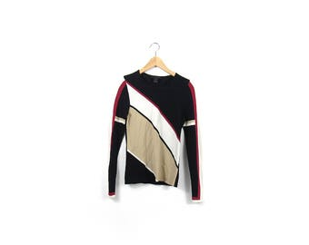 90s Geometric Long Sleeve/ Mondrian / Cubist / Shapes