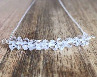 Herkimer Diamond Necklace - Crystal Necklace - Diamond Wedding Necklace - Wedding Necklace - Bridal Necklace - Bridal Jewlery - Diamond