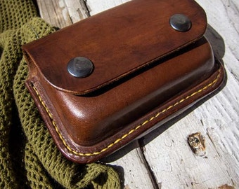 Bushcraft Leather Pouch For Altoids Tin