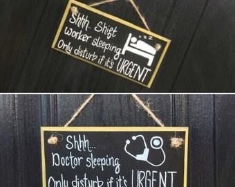 Door sign, door hanger, do not disturb, sleep sign, do not disturb sign, shift worker, doctor gift, nurse gift, new baby gift, naps, shifts