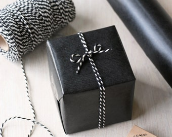 Black Kraft Wrapping Paper Roll 2 metres