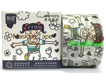 Washi Tape 3cmx7m Collage Girl SM372222