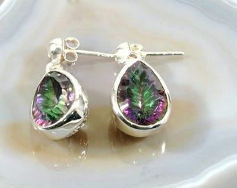 Mystic Topaz and Silver Earrings - 4919