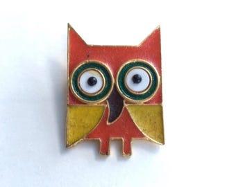 Adorable Enamel Owl Pin