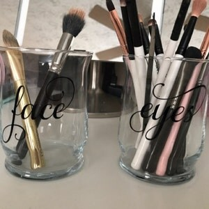 face and eye makeup brush holders makeup organize makeup
