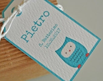 Christening Favor Tags OWL