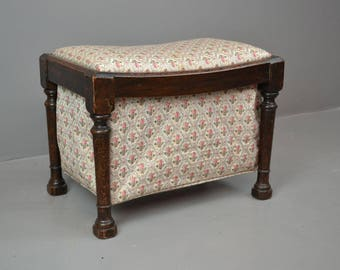 Pretty Floral Footstool / Sewing Tidy