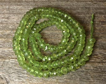Faceted Peridot, Peridot beads, green gemstone
