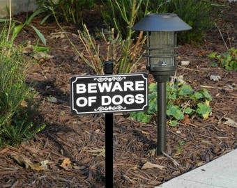 BEWARE OF DOGS Lawn Sign - Free Shipping