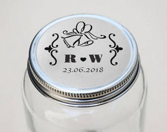 SIiver Foil Personalized Wedding Candy wrappers/ stickers for Favors / envelope seals #O