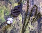 Heddle necklace the smallest heddle on all over the world, gift for weaver, tape loom, rigid heddle, weaving loom