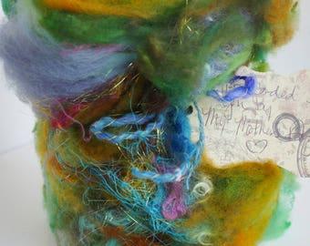 "Textured Art Batt in ""Malachite Room"""