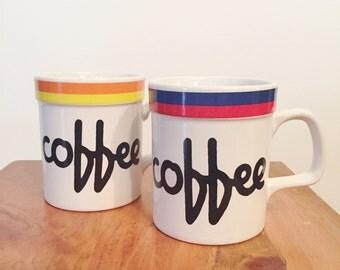 Set of 2 vintage coffee mugs