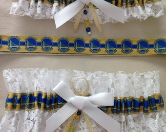 "Golden State ""Warriors"" Garters"