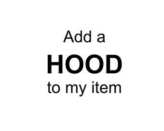 Add HOOD to my item (romper, dress, tank etc)