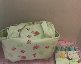 Green Ladybug Baby Doll Diaper Bag