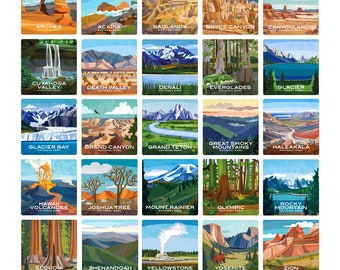 Build Your Own Coaster Set of 4 - National Parks