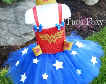 Wonder WomanTutu Dress, Wonder Woman Costume, Superhero Tutu Dress, Super hero tutu dress, Super Hero costume, Super Hero girl