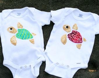 Turtle Onesie - Honu - Hawaiian Turtle - Baby Boy - Baby Girl - Baby Neutral