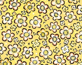 Four Seasons Spring Yellow Floral from In The Beginning by the yard
