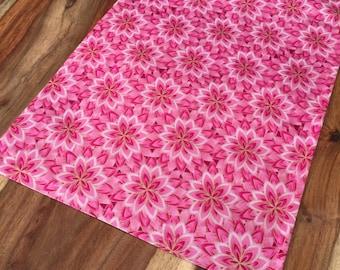 Pink and metallic gold flower burst Table Runner