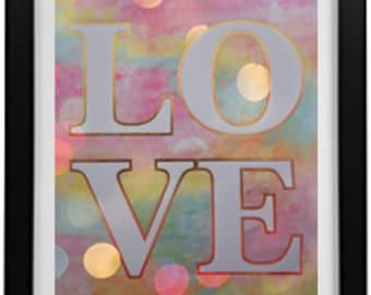 "love digital art 'word art"" Sale"