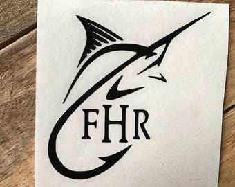 Saltwater fish etsy for Saltwater fishing decals