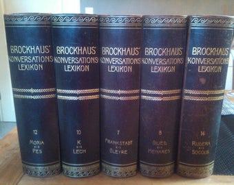 Brockhaus conversation dictionary 17 volumes, 1901-1904
