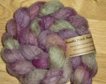 Hand Dyed Blue Faced Leicester Combed Top For Spinning or Felting 100g