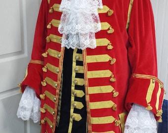 Deluxe Captain Hook Peter Pan Jacket Pirate Coat Custom Costume