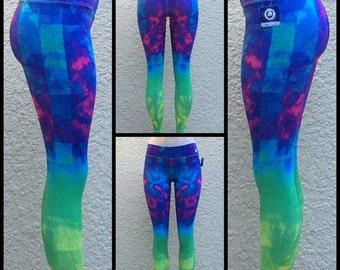 Power Blue Leggings, Fitness Leggings, Workout Leggings, Cool Pants, yoga pants, workout clothes