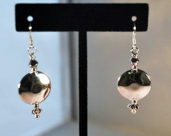 Unique silver dangle earrings
