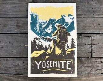 Yosemite Handmade Art Print