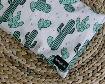 Pillow for babies and toddlers with motifs of cactus organic buckwheat hulls