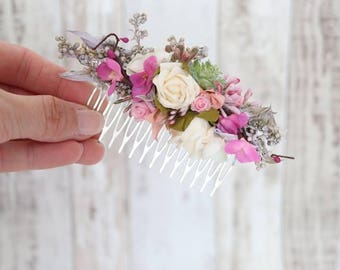 Hair comb -Bed of Roses