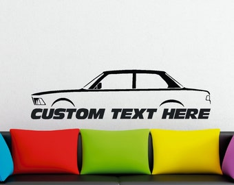 Large Custom car silhouette wall sticker - for BMW e21 3-series 323i ,320,316 coupe